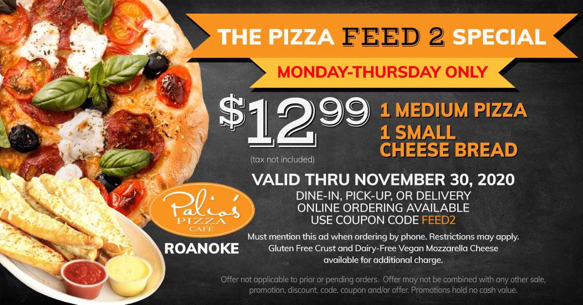 The Pizza FEED2 Special - Monday - Thursday