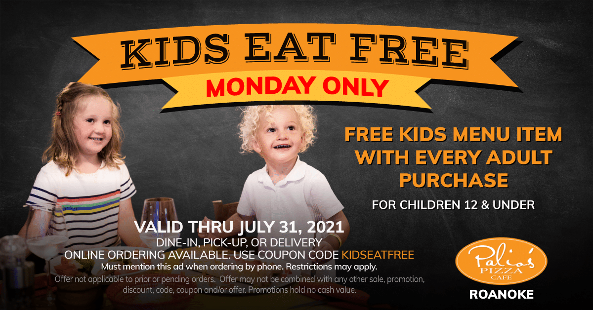 Kids Eat Free - Monday Only