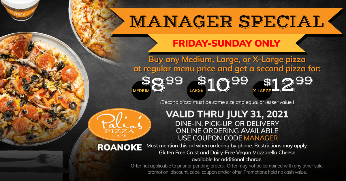 Manager Special - Friday - Sunday