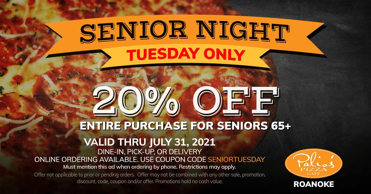 Senior Night - Tuesday Only