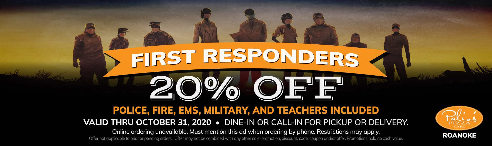 First Responders - Police, Fire, EMS, Military and Teachers 20% Off