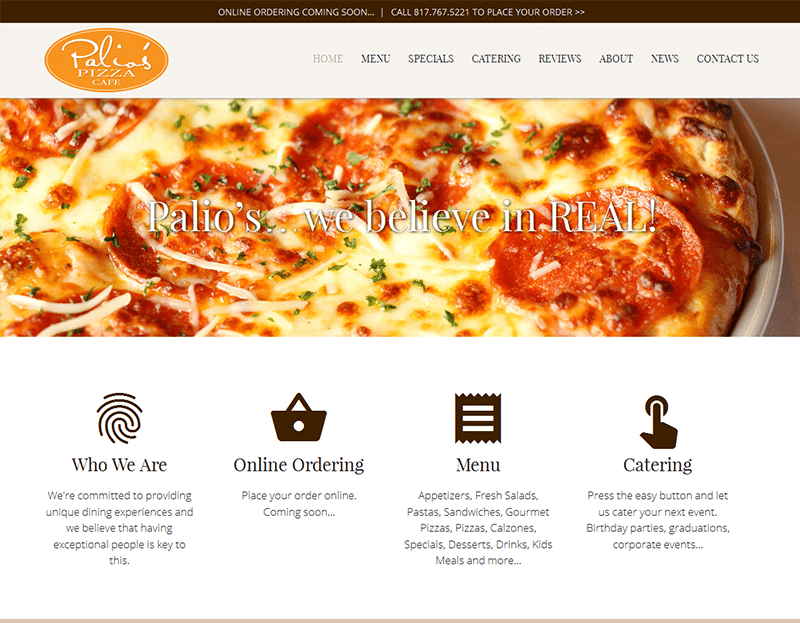 Palio's Pizza Cafe Roanoke TX Launches New Website